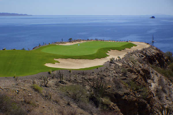 One can view a Sea of Cortez panorama from no. 17 at Danzante Bay Golf Club.