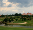 Andy Dye's Orna Golf & Country Club in Melaka features a stately clubhouse towering over the 27-hole golf course.