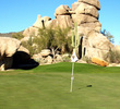 From the very first hole at The Boulders South Course, you get a pretty good idea what the course is all about.