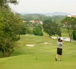 No. 10 on the Bunga Raya golf course heads straight downhill, measuring 380 yards from the back tees.