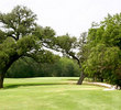 Depending on your position, your second or third shot may have to carry trees on the sixth hole at The Republic Golf Club.