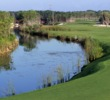 El Camaleon Golf Club's par-4 17th hole is a drivable but narrow hole with a canal guarding the left side.