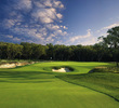 The AT&T Oaks at TPC San Antonio winds through dense, Texas Hill Country forest.