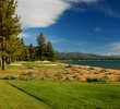 Edgewood Tahoe Golf Course's 17th hole is a par 3 that plays along the beach of Lake Tahoe.