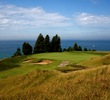 The par-3 13th hole at Arcadia Bluffs Golf Club overlooks Lake Michigan.