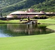 The par-5 18th hole at King Kamehameha Golf Club heads back toward the Frank Lloyd Wright-designed clubhouse.