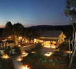 The Carmel Valley Ranch Lodge glows at sunset.