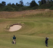Players approach the first green at Bandon Dunes in Oregon.
