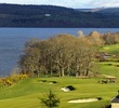 The closing holes at The Carrick on Loch Lomond play beside Loch Lomond.