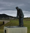 Old Tom Morris stands guard at his links at Rosapenna Hotel & Golf Resort.