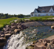 The signature waterfall/pond helps paint a pretty picture at Royal Manchester Golf Links.