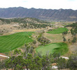 There are a lot of places to miss on Lakota Canyon Ranch Golf Club's 18th hole.