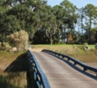 This bridge traverses a wetland to the ninth green at Crescent Pointe Golf Club.