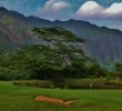 The setting around the 16th green shows off how beautiful Ko'olau Golf Club can be.