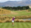 New Zealand's rising star, Lydia Ko, hits her tee shot on the 13th hole at the 2013 New Zealand PGA Championship.