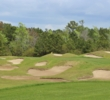 Bunkers are bountiful on the 15th hole at The Dye Club at Barefoot Resort & Golf.