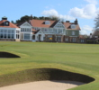 Muirfield's finishing hole sits just steps from the clubhouse.