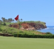 The cliffs come alive on the 16th hole at Poipu Bay Golf Course.