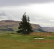 The 426-yard, par-4 first hole on the PGA Centenary Course at Gleneagles Resort introduces the rolling countryside.