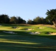 The first hole at Black Horse at Bayonet & Black Horse is a well defended par 5.