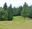 The 10th hole falls downhill on the Kayak Point Golf Course in Stanwood, Washington.