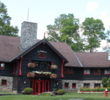 The clubhouse at the Fairmont Le Chateau Montebello Golf Club looks just like the famous log cabin hotel down the road.