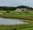 Water makes the ninth hole at McCullough's Emerald Golf Links formidable.