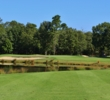 This water hazard makes the 15th hole the no. 1 handicap at Blue Heron Pines Golf Club on the Jersey Shore.