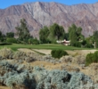 The par-3 third hole is one of many beauties at SilverRock Resort in La Quinta, California.