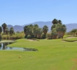 The 155-yard eighth hole is the shortest par 3 on the Firecliff Course at Desert Willow Golf Resort.