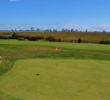 Atlantic City C.C.'s 17th green offers views of the shore and the skyline.