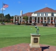 The famous Putter Boy statue watches over the five courses that operate out of the main clubhouse at Pinehurst.
