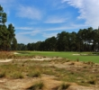 The first hole introduces the new look of Pinehurst No. 2, a Donald Ross classic restored by Bill Coore and Ben Crenshaw in 2011.