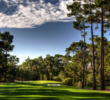 Towering Monterey pines frame the 17th hole at Poppy Hills Golf Course in Pebble Beach, Calif.