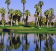 Water, sand and plenty of green grass are the elements on the Palms Course at JW Marriott's Desert Springs Resort in Palm Desert, Calif.