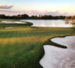 The par-4 16th hole on the Blue Monster at Trump National Doral Miami is now 340 yards long and features water down the left side.