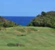 The fifth hole introduces the stunning views of Royal Isabela.