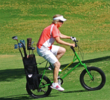 Westin Kierland Golf Club's Nancy Dickens had little problem getting around the course on a Golf Bike.