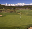 A wide fairway and a view of the Rockies await on no. 8 at Breckenridge Golf Club's Bear nine.
