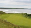 The 11th green on the Old Course at Ballybunion Golf Club sits by the beach.