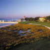 The famous 18th hole of Sea Pines Resort's Harbour Town Golf Links plays along the coast and towards the lighthouse. Arnold Palmer won the 1969 Heritage Golf Classic here.