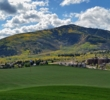 Many of the holes on the Canyons Golf Course will have great views of the Snyderville Valley, like this one on the 195-yard, par-3 sixth.