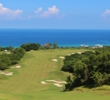 The first tee of the White Witch Golf Course overlooks an incredible par 5 and the Caribbean Sea.