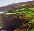 One of the most intimidating and prettiest holes in Hawaii is the 200-yard 12th on the Manele Golf Course at the Four Seasons on Lanai.
