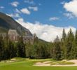 The par-4 14th at the Fairmont Banff Springs Golf Course is the old 18th -- hence the finish near the regal hotel.