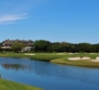 A pond adds scenery to the back nine of the Plantation golf course at Sea Island Resort.