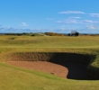 Hidden fairway bunkers lurk everywhere on the Old Course at St. Andrews.