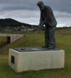 Old Tom Morris stands guard at his links at Rosapenna Hotel & Golf Resort in Ireland.