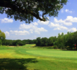 The first hole at Delaware Springs Golf Course is a reachable par 5.