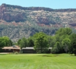 The third hole at Tiara Rado Golf Course sits at the base of the Colorado National Monument.